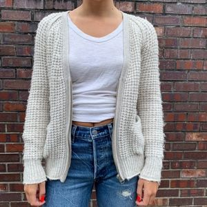 ARITZIA Wilfred Free Zip Up Cardigan